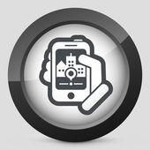 Kaart navigator web — Stockvector