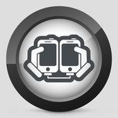 Smartphone files sharing — Stock Vector