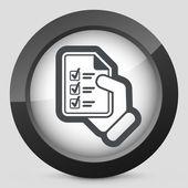 Documento de teste — Vetor de Stock