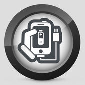 Phone charge icon — Stock Vector