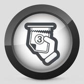Ticket queue icon — Stock Vector