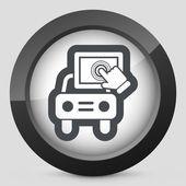 Touchscreen car device — Stock Vector