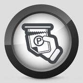 Parking ticket — Stock Vector