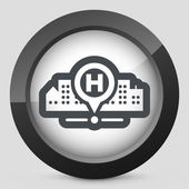 Hospital location — Stock Vector