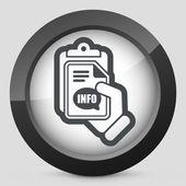 Info document icon — Stock Vector