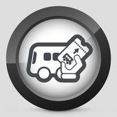 Bus-ticket — Stockvektor