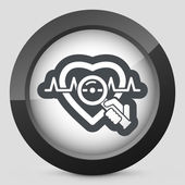 Heart medical exam — Stock Vector