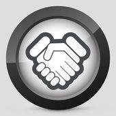 Handshake icon — Stock Vector