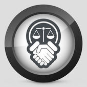 Legal agreement icon — Stok Vektör