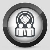 Icono de acuerdo de asociación — Vector de stock