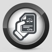 Legal document icon — Stock Vector