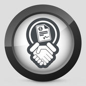 Conciliation payment icon — Stock Vector