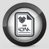 Sign on agreement document — Stock Vector
