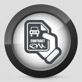 Car contract icon — Stock Vector