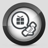 Telefonní hovor na dárek — Stock vektor