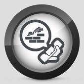 Building company contact icon — Stock Vector