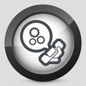 Technical assistance icon — Stock Vector