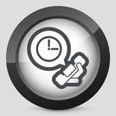 Clock phone icon — Vector de stock