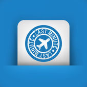 Last minute airline offer — Stock Vector