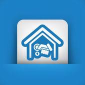 Home door handle — Stock Vector