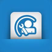 Worker concept symbol — Stock Vector