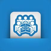 Reader concept icon — Stock Vector