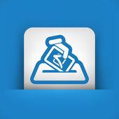 Election concept icon — Stock Vector