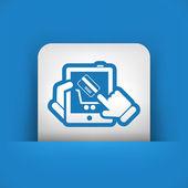Web shopping icon — Stock Vector
