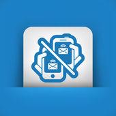 Icône de message web — Vecteur