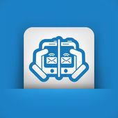 Ikony www wiadomość — Wektor stockowy