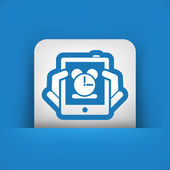 Icono de reloj de la tableta — Vector de stock