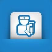 Medizinische reagenzglas — Stockvektor