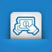 Alert mobile device — Stock Vector