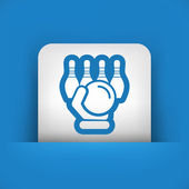 Bowling icon — Stock Vector