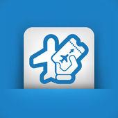 Airfare icon — Stock Vector