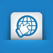 Point on globe — Stock Vector