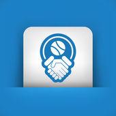 Tennis fairplay icon — Stock Vector