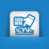 Sign on document icon — Stock Vector