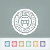 Car assistance print — Stock Vector