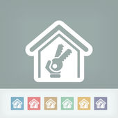 House key icon — Stock Vector