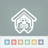 House contract icon — Stock Vector