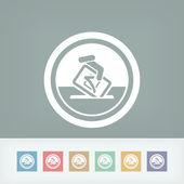 Vote symbol icon — Stock Vector