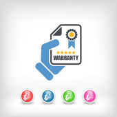 Warranty icon — Stock Vector