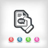 Info button icon — Stock Vector