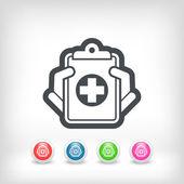 Медицинские записи значок — Cтоковый вектор
