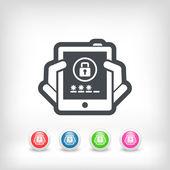 Device password — Stock Vector