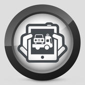 Car assistance icon — Stock Vector