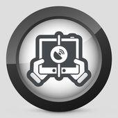 Ikona mobilní připojení — Stock vektor