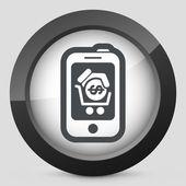 Smartphone varukorg ikonen — Stockvektor