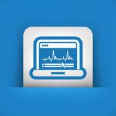 Graphic diagram computer icon — Stock Vector